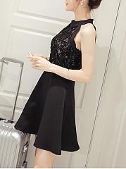 High Neck Plain Sleeveless Bodycon Dresses zoe