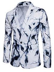 Notch-Lapel-Printed-Single-Button-Flap-Pocket-Men-Blazer