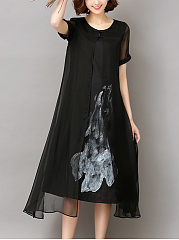 Summer-Asymmetric-Hem-Hollow-Out-Printed-Shift-Dress
