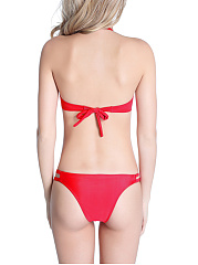 Halter Hollow Out Plain Bikini