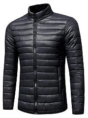 Men-Basic-High-Neck-Quilted-Plain-Padded-Coat