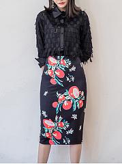 Delicate-Floral-Printed-Slit-Pencil-Midi-Skirt