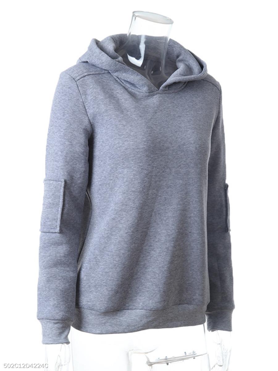 Hooded Plain Hoodie - fashionMia.com ad37a70c6