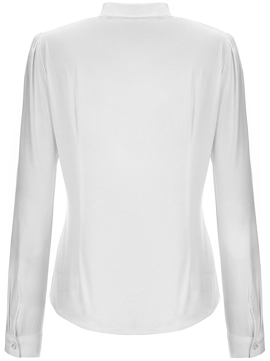 Bowknot Plain Long Sleeve Blouses - fashionMia.com
