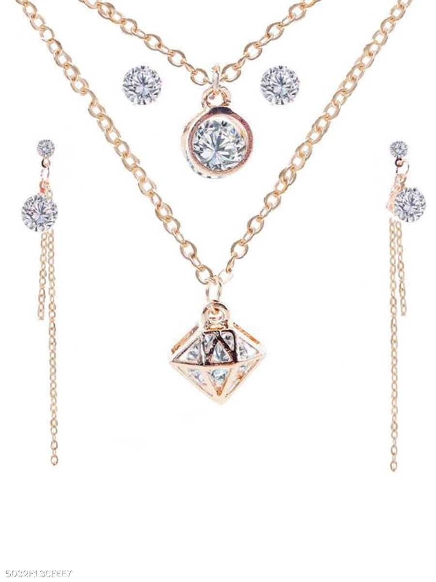 Elegant Imitated Imitated Crystal Jewelry Sets For Women