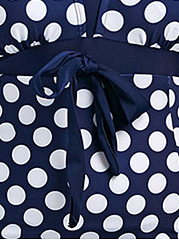 Surplice  Scoop Back  Polka Dot Plus Size One Piece Beachwear