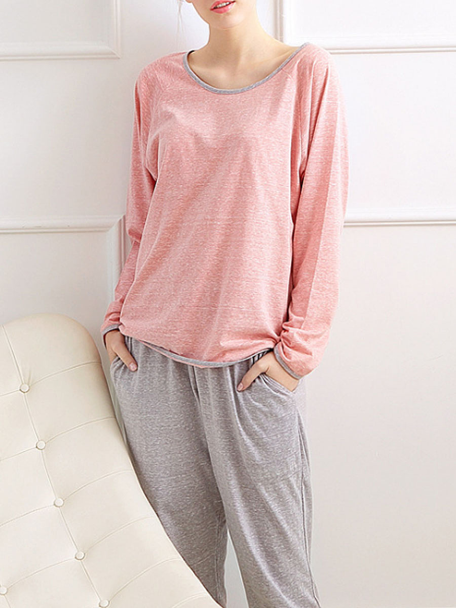 s v pajama women piece two shipping comforter drop casual comfortable shirt sleeves pants quarter set item pajamas sweetpine in sets neck warm three from