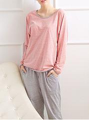 Two-Pieces-Raglan-Sleeve-Comfortable-Pajama-Set