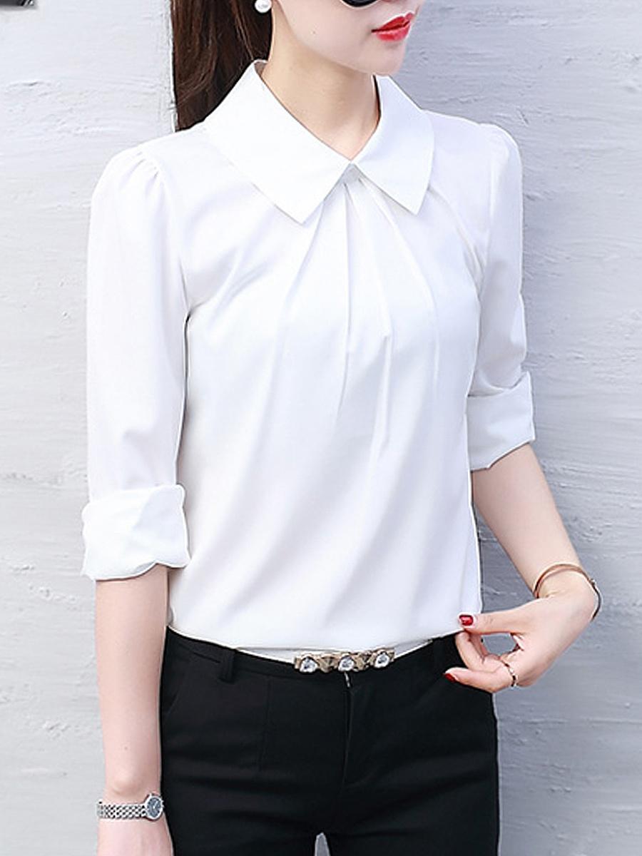 Doll Collar  Plain Blouse
