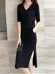 Plain Bodycon Dress