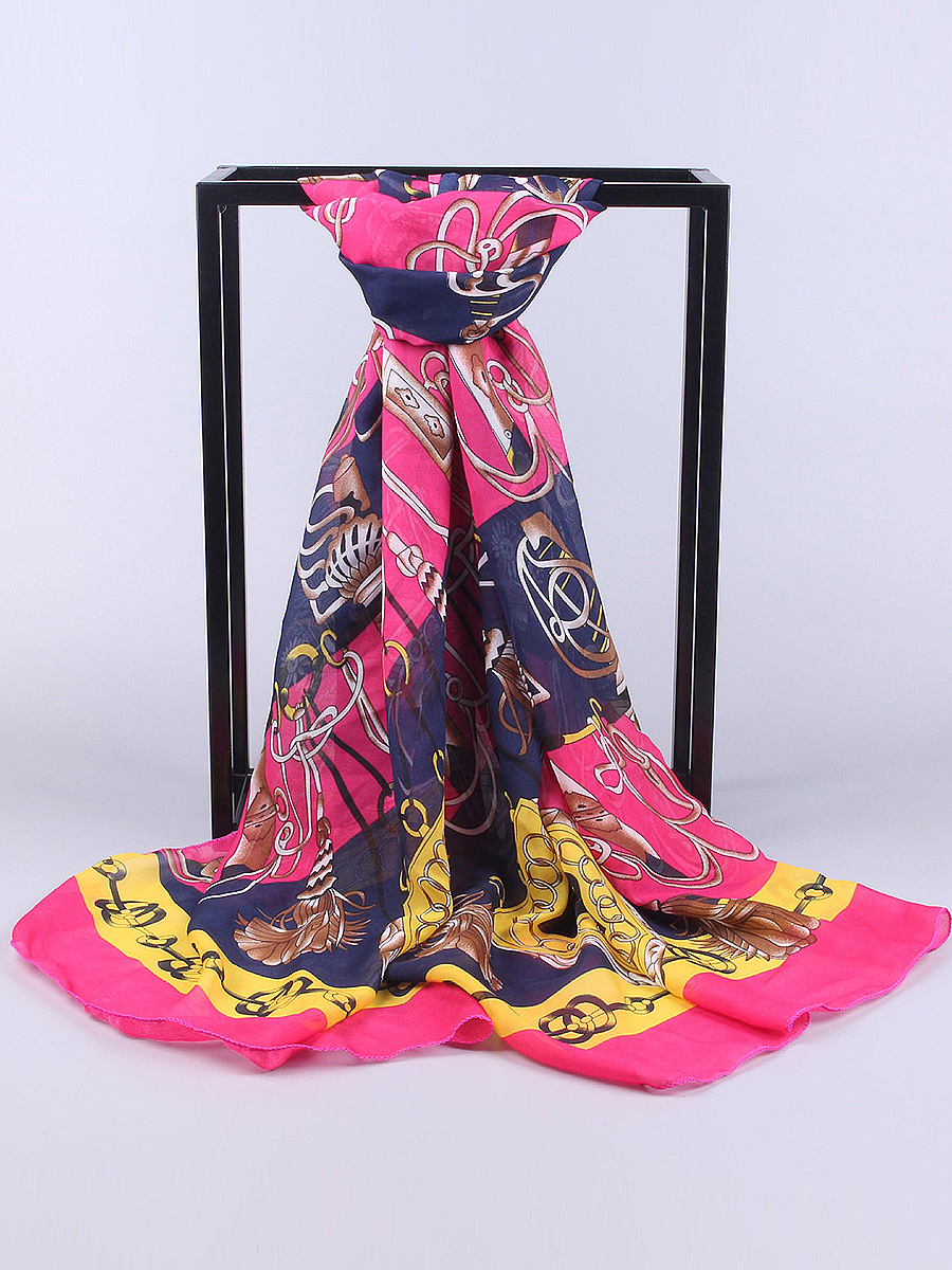 Chiffon Abstract Print Scarves