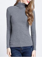 Turtleneck-Plain-Long-Sleeve-Sweater