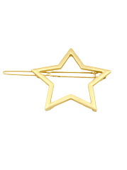 Gold Hollow Star Shape Hair Clip
