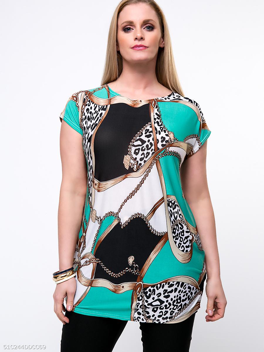 Risultati immagini per color-block-leopard-round-neck-plus-size-t-shirt-178532.html