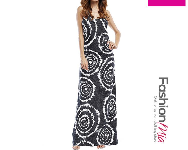 Round Neck  Printed Maxi Dress 51F261F353D7