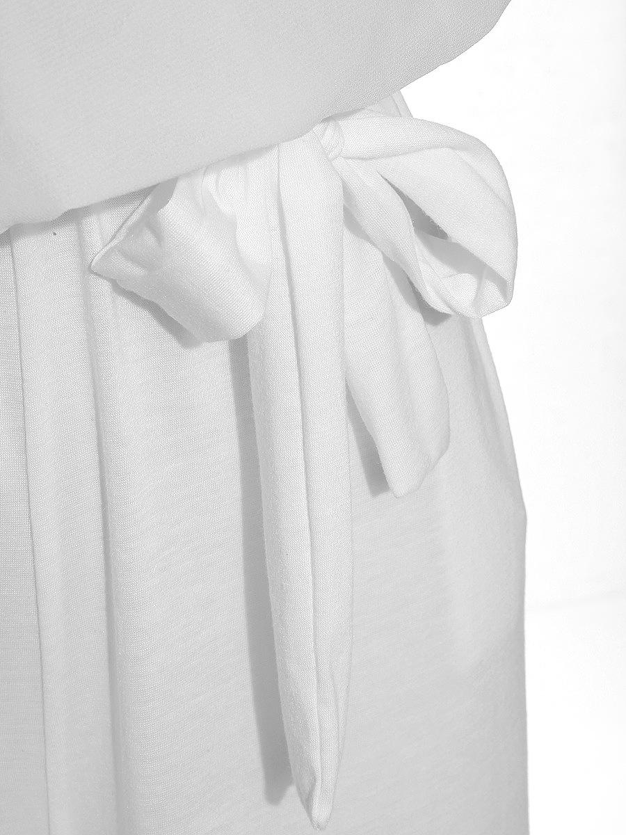 One Shoulder Elastic Waist Plain Wide-Leg Jumpsuit