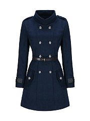 Turn-Down-Collar-Double-Breasted-Flap-Pocket-Woolen-Coat