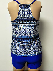 Backless  High Stretch  Abstract Print Bohemian One Piece