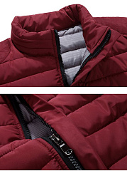 High Neck Quilted Plain Padded Men Coat
