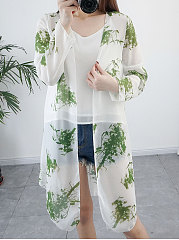 Floral Printed  Long Sleeve Cardigans