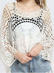 Hollow-Out Romantic Lace Style Cover Ups