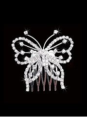 Rhinestone Butterfly Hair Comb