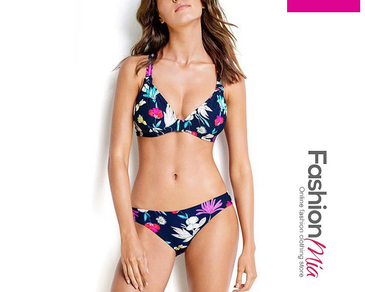 Floral Printed  Mid-Rise Bikini Set