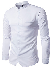 Band Collar  Plain Men Shirts