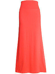 Simple-Solid-Flared-Maxi-Skirt