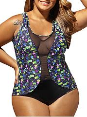 Patchwork-See-Through-Printed-Plus-Size-Swimwear