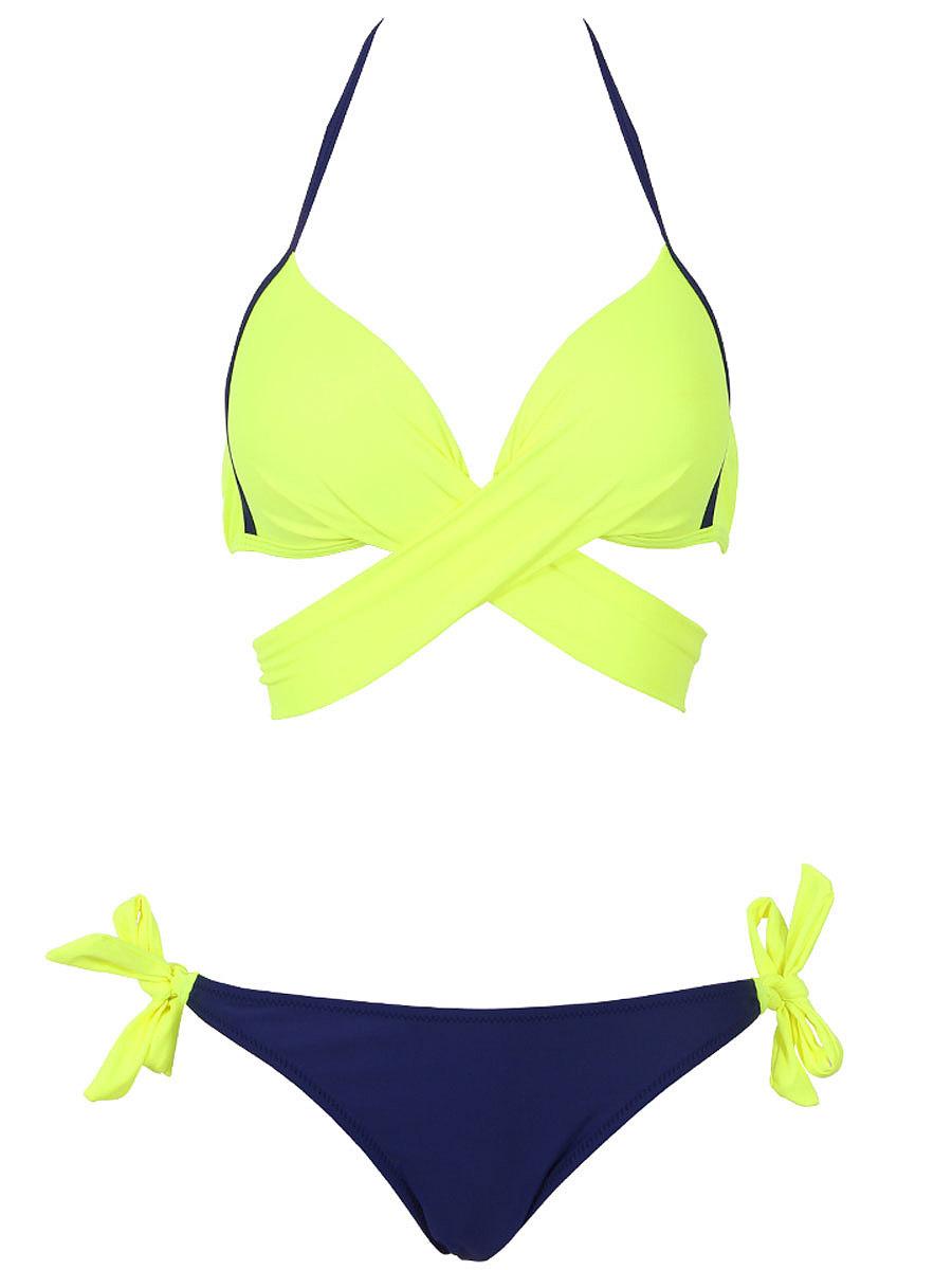 2018 Sexy Bikini Women Swimsuit Push Up Swimwear Criss Cross Bandage Halter Bikini