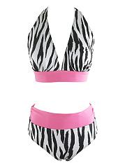 Halter-Zebra-Printed-Color-Block-Bikini