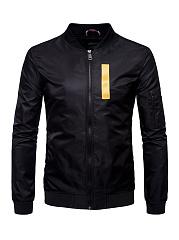 Band-Collar-Zips-Letters-Men-Bomber-Jacket