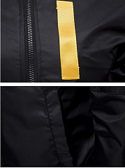 Band Collar Zips Letters Men Bomber Jacket