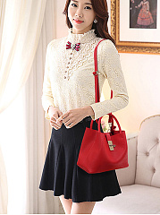 Hot Korea Stylish Faux PU Shoulder Bag