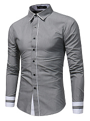 Fitted-Contrast-Trim-Men-Shirts