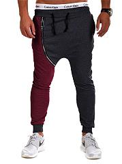 Color-Block-Zips-Mens-Casual-Jogger-Pants