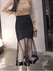 Lightweight-Curved-Hem-Mermaid-Midi-Skirts