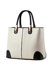 Color Block Pu High-Quality Shoulder Bag