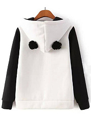 Lovely Panda Printed Kangaroo Pocket Hoodie