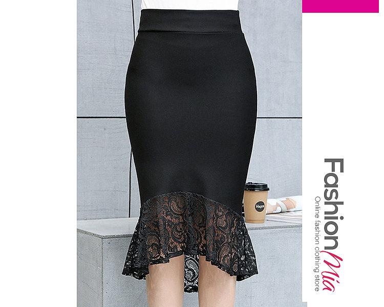 Plain Mermaid Maxi Skirts For Women