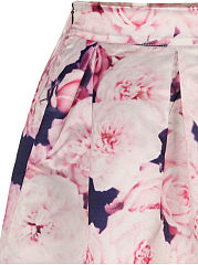 Floral Printed Delightful Flared Midi Skirt