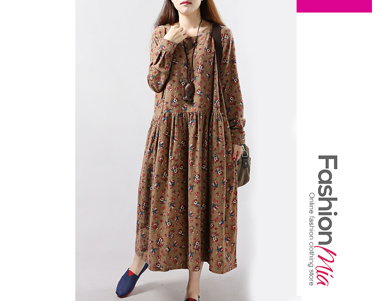material:cotton/linen, collar&neckline:round neck, how_to_wash:cold gentle machine wash, supplementary_matters:all dimensions are measured manually with a deviation of 2 to 4cm., package_included:dress*1, lengthshouldersleeve lengthbust