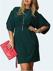 Plain Plus Size Bodycon Dresses