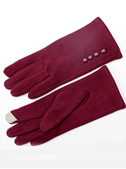 Knit Fleece Telefingers Gloves