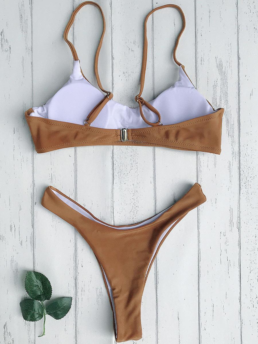 High Cut Thong Bikini Set