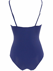 Hollow Out Solid Spaghetti Strap One Piece
