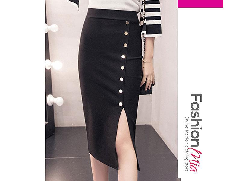 New Style Plain Straight Knee-Length Skirts For Women