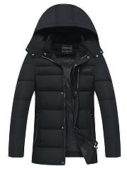Hooded-Men-Quilted-Pocket-Plain-Padded-Coat