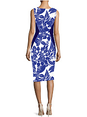 Sweet Heart  Abstract Print Bodycon Dress